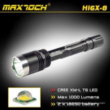 Maxtoch HI6X-8 aço monte Rechageable 1000LM lanterna militar