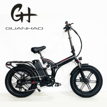 Mag Integrated Wheels Suspension 1000W Foldable Fat Tire Bike
