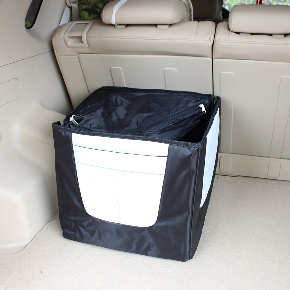 Totally Zippered Up Collapsible Car Trunk Storage Bag