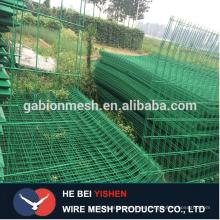 Paneles de cerca de malla de alambre soldado, pvc recubierto / galvanizado soldado paneles de valla de alambre de Anping condado para la venta