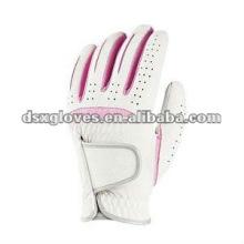 Женская белая каблетта кожаная перчатка для гольфа