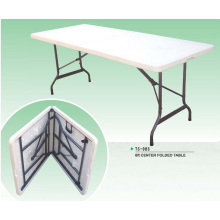 Outdoor Furniture Series 72inch White Commerial Grade Plastic Folding Picnic Table