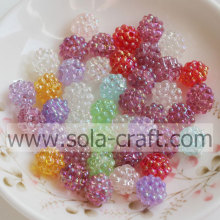 Wholesale Transparent Acrylic Rhinestone Berry Beads with Hole