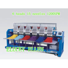 TOP SALE 6 heads flat /cap/T-shirt computerized embroidery machine                                                                         Quality Choice