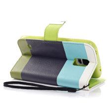 PU кожаный бумажник флип Чехол стенд Чехол для Samsung Галактики S5 в i9600