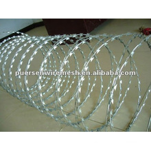 China concertina razor wire, razor wire fencing, razor barbed wire
