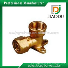 forged wall plate elbow of brass pipe fitting