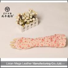Женские длинные летние солнцезащитные перчатки кружевные и цветочные