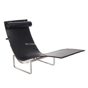 Silla de salón Poul Kjarholm PK24 Leather Chaise