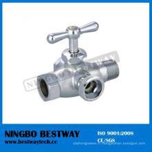 Soupape d'angle de lavage en laiton de valve de toilette de 4 manières (BW-A45)