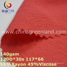 Rayon Viscose Chiffon Plain Dyeing Fabric for Clothes Garment (GLLML314)