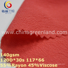 Rayon Viscose Chiffon Tecido de tingimento simples para roupas vestuário (GLLML314)