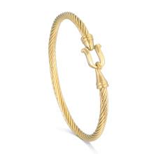 Tanishq Saudi Arabia Gold Cable Bangle Design Fine Bracelet