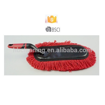 red cotton car duster, polish duster