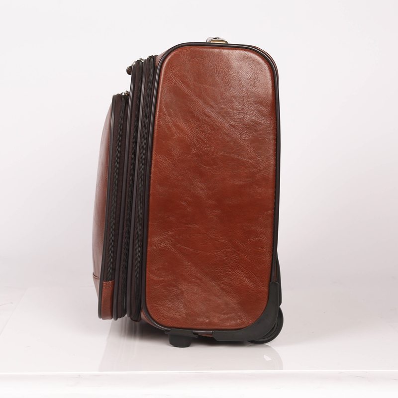 wholesale custom pu leather luggage