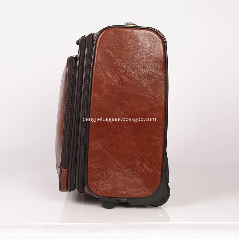 wholesale custom pu leather luggage
