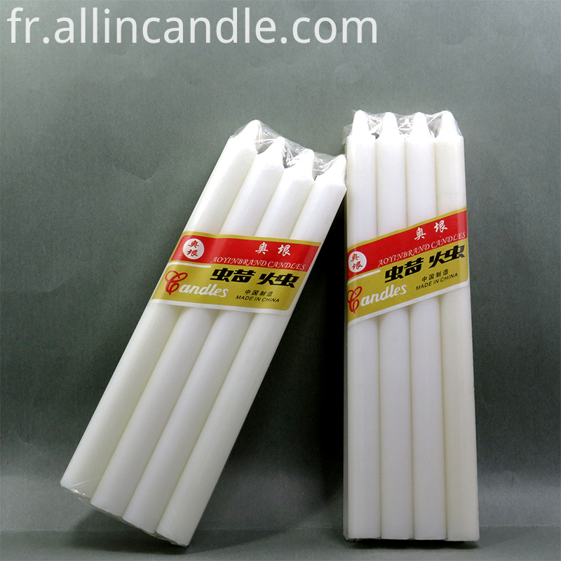 white taper candle in bulk
