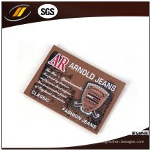 Etiqueta de couro de patch de couro impresso (HJ1002)