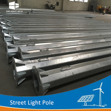 DELIGHT Round Steel Column Street Light Pole