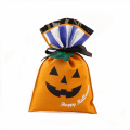 Orange Pumgkin Design Halloween Plastic Gift Bags