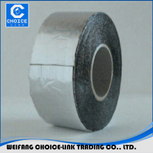 Self adhesive bitumen base sealing tape with aluminum foil