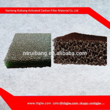 fabricación de todo tipo de tamaño de poro filtro negro Espuma de carbón activado