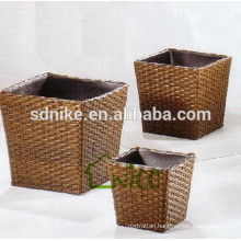 three pieces outdoor rattan large vase