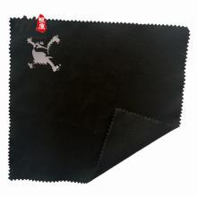 Tissu de microfibre de logo de gaufrage d'impression personnalisée