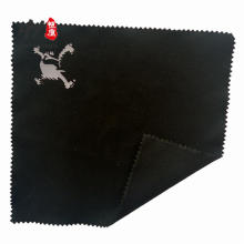 Impressão personalizada em relevo logotipo microfibra pano