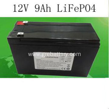 12V 9Ah LiFePO4 Best Rechargeable AA Batteries