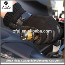 Hot-Selling High Quality Low Price Leather black motorcycle driving Leather Gloves Men