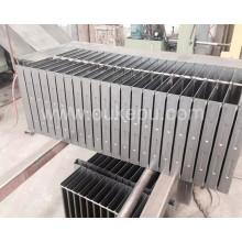suministro de radiador de 100mm de altura para el transformador, radiador para transformador en aceite, radiador para generador