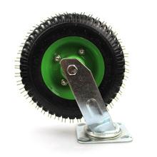 8 inch heavy duty flat universal inflatable swivel caster wheel