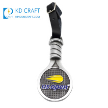 High quality custom design your own metal 3d enamel silver plated sports tennis medal for souvenir