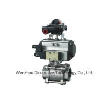 Double Acting Stainless Steel Pneumatic Actuator Thread Ball Valve (Q611F)