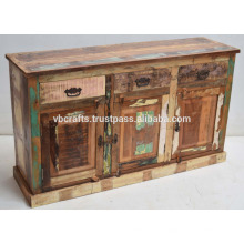 Aparador de madeira de cor antigo recuperado