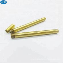 Precision CNC turning machining brass threaded tube