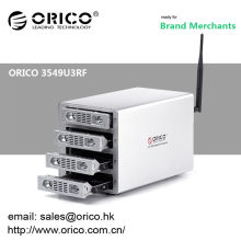 ORICO 3549U3RF 3.5'' 4 bays tool free SATA HDD external enclosure usb3.0 multi bay hdd enclosure