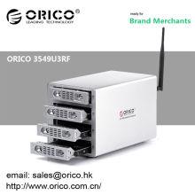 ORICO 3549U3RF 3.5 '' 4 baías ferramenta livre SATA HDD gabinete externo usb3.0 gabinete hdd multi bay