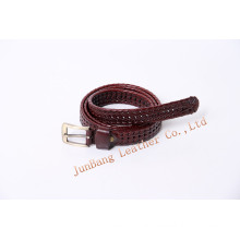 High-Quality Unisex Fashion Webbing Leather Belt with Pin Buckle