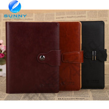 2015 Premium Genuine Leather Cover Notebook with Low Price (XL-21005)
