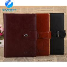 2015 premium notebook capa de couro genuíno com preço baixo (xl-21005)