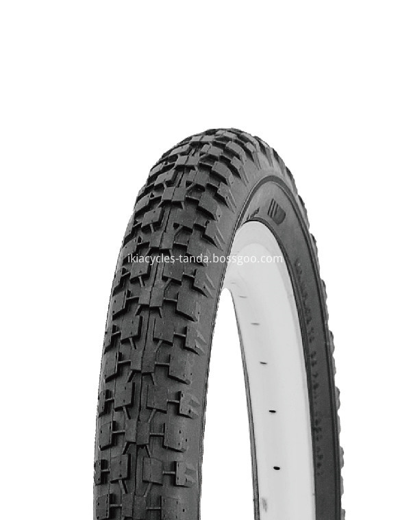 Pattern Grey Bicycle Tyre