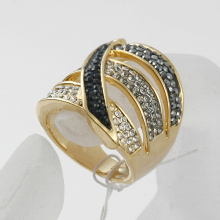 fashion vintage alloy rhinestone gold & silver infinity finger ring wholesale price
