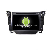 Quad core!car dvd with mirror link/DVR/TPMS/OBD2 for 7inch touch screen quad core 4.4 Android system Hyundai I30