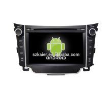 Quad core! Dvd do carro com link espelho / DVR / TPMS / OBD2 para 7 polegadas tela sensível ao toque quad core 4.4 sistema Android Hyundai I30