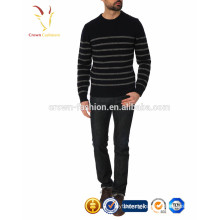 Men Crew Neck Cashmere Sweater Stripe
