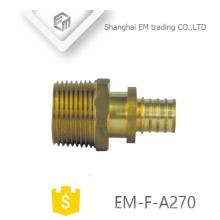 EM-F-A270 latão tubo de diâmetro diferente compliant precisão personalizado acessórios para tubos com parafusos de ajuste