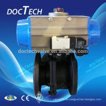 DIN3202 Acero al carbono brida válvula de bola