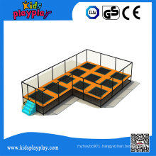 Kidsplayplay Commercial Trampoline with Foam Pit Enclosure for Sale